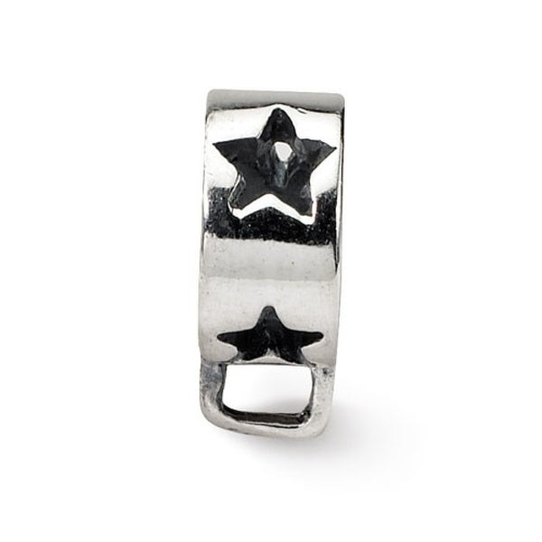 Sterling Silver Reflections Star with Loop for Click-on Bead (4mm Diameter Hole)