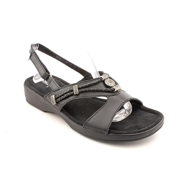 Minnetonka Silvie Women W Open-Toe Leather Slingback Sandal