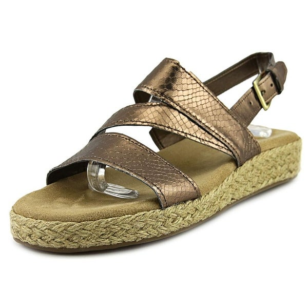 Aerosoles Globetrotter Women Bronze Snake Sandals