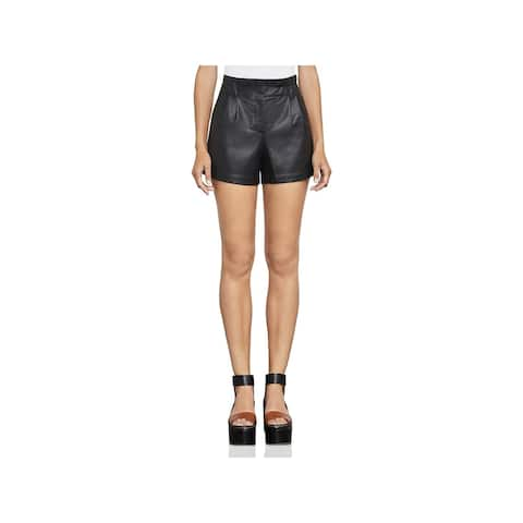BCBG Max Azria Womens Symon High-Waist Shorts Faux Leather Dress - M