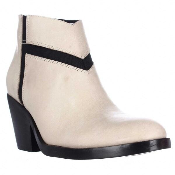 Naya Atom Block-Heel Dress Ankle Boots, Taupe