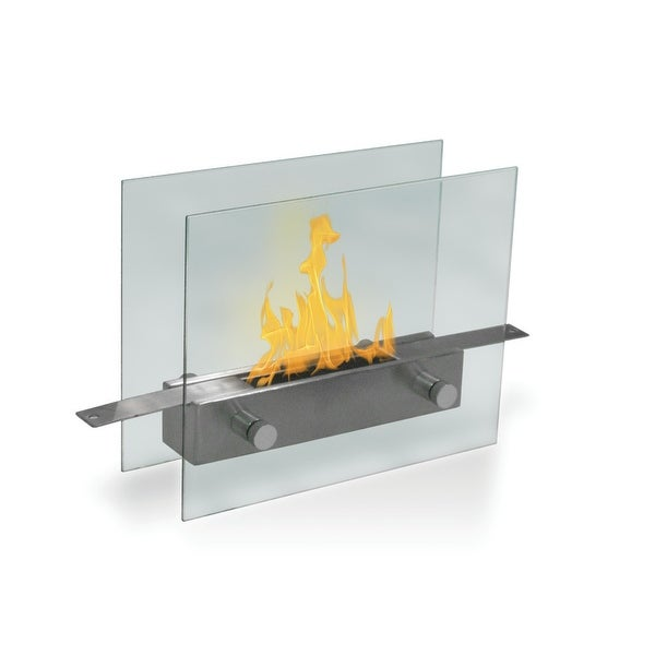 Metropolitan (Stainless Steel) Table Top Bio-Ethanol Ventless Fireplace