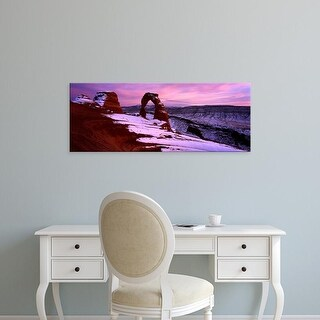 Easy Art Prints Panoramic Images's 'Delicate Arch in winter, Arches National Park, Utah, USA' Premium Canvas Art