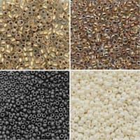 Exclusive Beadaholique Toho Seed Bead Palette, Round 11/0, 32 Grams, Campfire