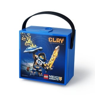LEGO Nexo Knights Lunch Box with Handle, Bright Blue - Multi