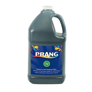 Prang Non-Toxic Ready-to-Use Liquid Tempera Paint, 1 gal Squeeze Bottle, Black