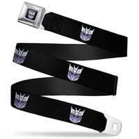 Transformers Decepticon Logo Full Color Black Blue Fade Decepticon Repeat Seatbelt Belt