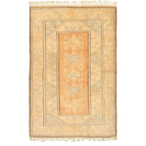 Hand-knotted Melis Vintage Copper, Ivory Wool Rug