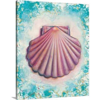 """Shell Rosa"" Canvas Wall Art"