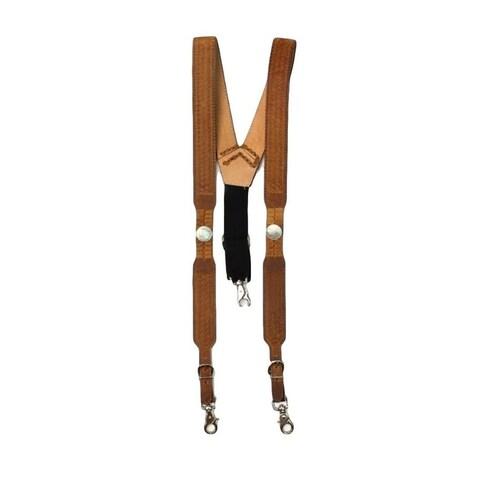 Nocona Suspenders Mens Galluse Buffalo Nickel Briar