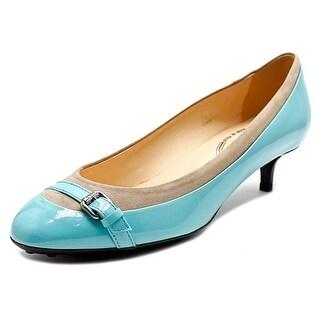 Tod's Gomma T 40 RA Fibbietta Women Round Toe Synthetic Blue Ballet Flats