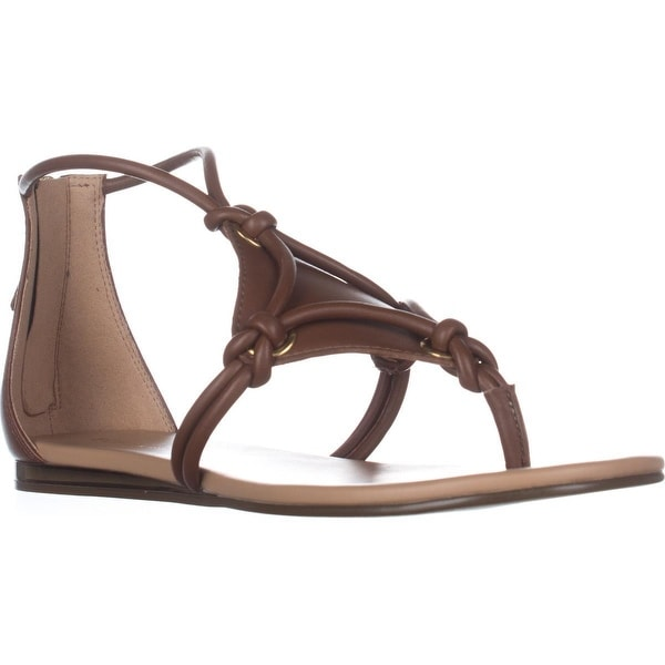 BCBGeneration Sara T-Strap Sandals, Caramel/Caramel