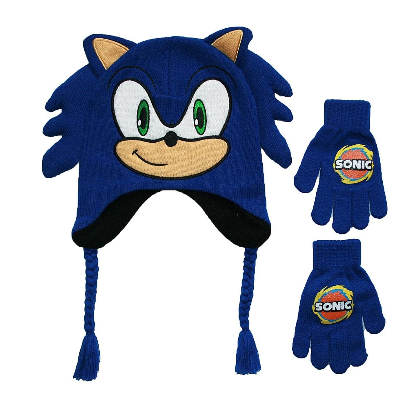 Shop Sega Sonic The Hedgehog Kids Peruvian Hat And Gloves Set Overstock 30273688