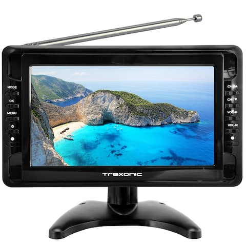 """Refurbished Trexonic Portable 10"""" LCD TV with SD, USB"""