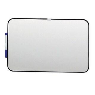 School Smart Dry Erase Board, 11 L X 17 W in, Black Frame, Horizontal/Vertical Mount