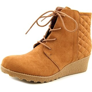 Mia Girl Jaimee Round Toe Canvas Ankle Boot