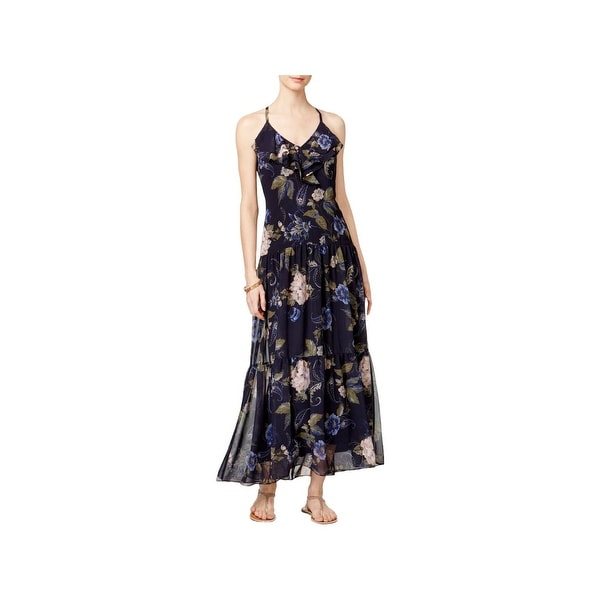 43086aa186213 MSK Womens Maxi Dress Chiffon Floral