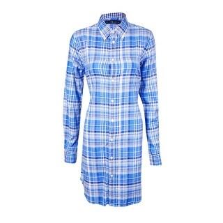Ralph Lauren Women's Plaid Buttoned Shirt Dress