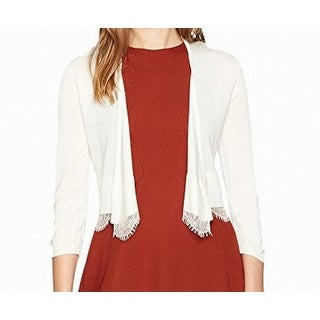 Tommy Hilfiger NEW White Ivory Lace-Trim Women's Large L Shrug Sweater