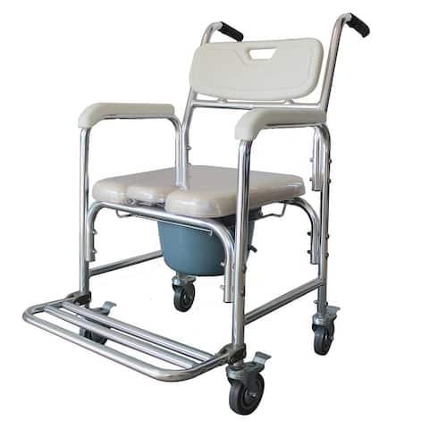 Multifunction Heavy Duty Memory Foam Cushion Commode Chair Adult Bathroom Toilet Seat