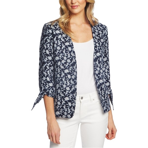 CeCe Womens Tie Sleeve Jacket, Blue, X-Small. Opens flyout.