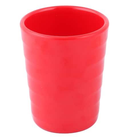 "Apartment Melamine Cylinder Milk Juice Holder Drinking Cup Mug 200ml - Red - 2.9"" x 3.7""(D*H)"