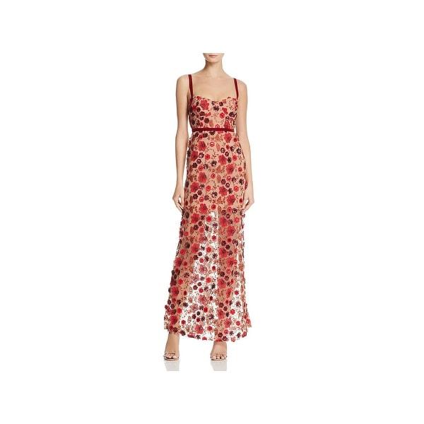 For Love And Lemons Womens Beatrice Maxi Dress Sheer Embellished - M 97171e09843e