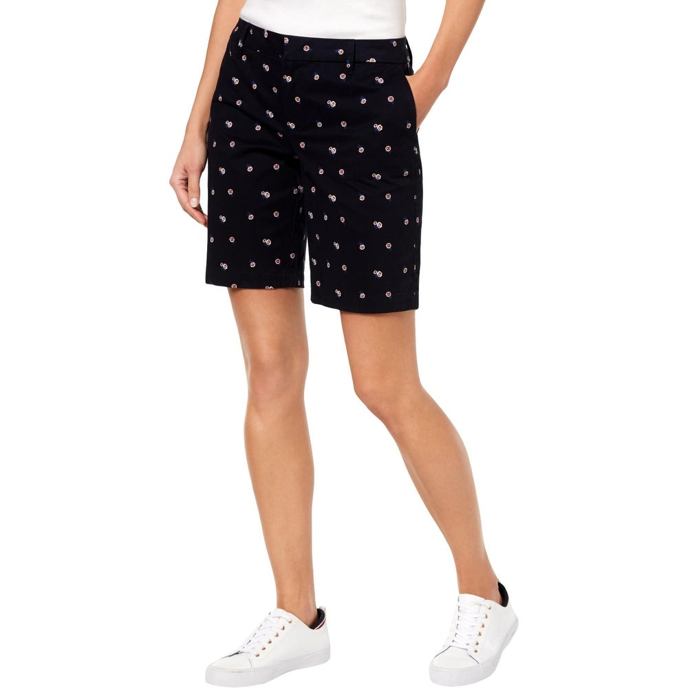 Tommy Hilfiger Womens Hollywood Bermuda Shorts Floral Mid-Rise
