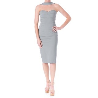 Cushnie et Ochs Womens Crepe Halter Cocktail Dress