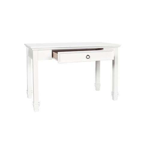 Tamarack Modern 1-Drawer Desk w/ Ring Pull Hardware, White