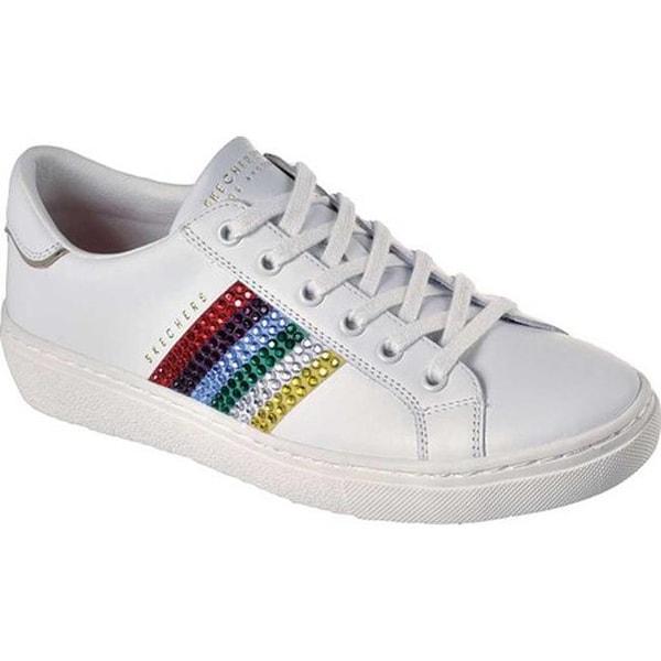 5f20989961 Shop Skechers Women's Goldie Rainbow Rockers Sneaker White - Free ...