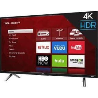 "Tcl 55"" Class 4K (2160P) Roku Smart Led Tv (55S405)