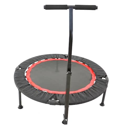 40 Inch Mini Exercise Trampoline, Indoor Fitness Rebounder Trampoline with Safety Pad