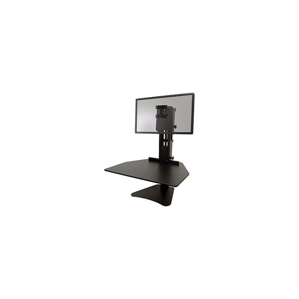 Victor High Rise Adjustable Sit-Stand Workstation, Black High Rise Adjustable Sit-Stand Workstation, Black