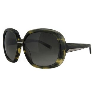 DSquared DQ 0050/S 95B Green Tortoise Oversized Square Full Rim Sunglasses - green tortoise - 60-15-130