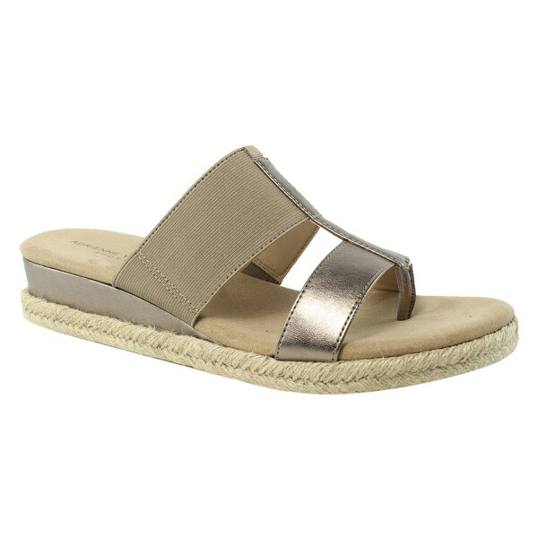 7a5d7928097 Adrienne Vittadini Womens Champagne Espadrille Sandals Size 10 New