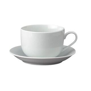 HIC 7890 Porcelain Cafe Au Lait Cup With Saucer, 13 Oz