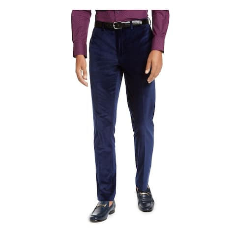 TALLIA Mens Navy Slim Fit Pants 40W/ 30L - 40W/ 30L