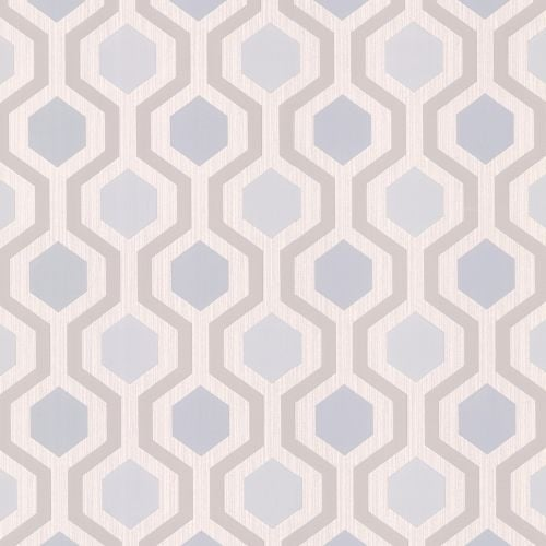 Brewster 347-20135 Marina Grey Modern Geometric Wallpaper - N/A