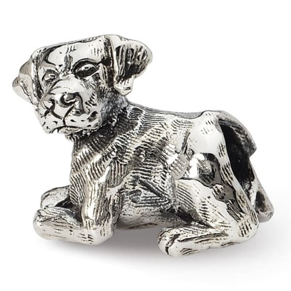Sterling Silver Reflections Labrador Retriever Bead (4mm Diameter Hole)