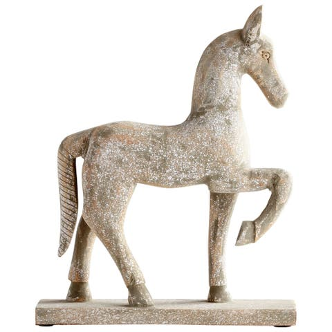Cyan Design 08970S Rustic Canter Wood Horse Statue