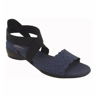 Munro NEW Indigo Blue Women's Shoes Size 5.5W Lacy Suede Sandal
