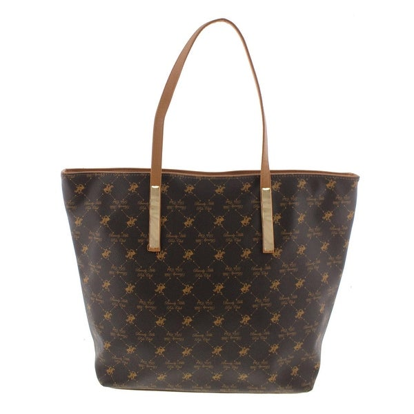 940214f8df Beverly Hills Polo Club Womens Tote Handbag Faux Leather Printed - Extra  large