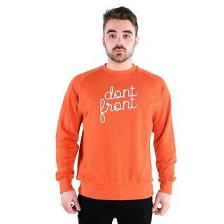 Diem Mens Knit Crew Sweatshirt - Dont Front In Orange