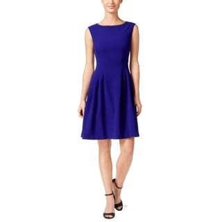 Vince Camuto NEW Blue Women's Size 16 Sheath Embellished Solid Dress