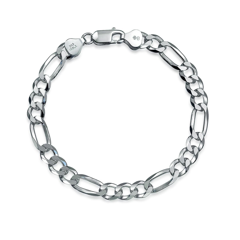 Figaro Bracelet Engravable 180 Gauge