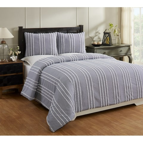 Better Trends Winston Collection in Stripes Design 100% Cotton Tufted Chenille Comforter