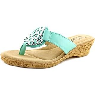 Easy Street Rossano Women WW Open Toe Leather Thong Sandal