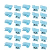 30Pcs Flag Crimp Terminals Female Nylon Fully Insulated Wire Connectors Blue