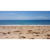 Blue Ocean And Beach Canvas Wall Art Photograph